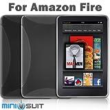 Amazon Kindle Fire 専用TPUケース X柄 スモーク