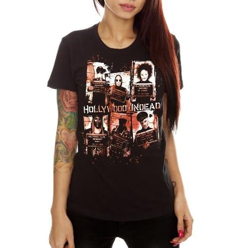 Amazon.com: Hollywood Undead Mugshots Girls T-Shirt Plus Size 3XL