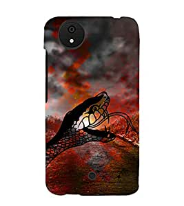 Snake Illustration 3D Hard Polycarbonate Designer Back Case Cover for Micromax Android A1 :: Micromax Canvas A1 AQ4502