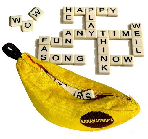 Bananagrams Word Game Scrabble Crossword Style Perfect for beginning spellers 2 or more players Great for travel