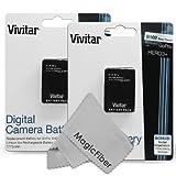 (2 Pack) Vivitar AHDBT-301 / AHDBT-302 Ultra High Capacity 1775mAH Li-ion Batteries for GoPro HD HERO3+, GoPro HD HERO3 (AHDBT-301 Replacement)
