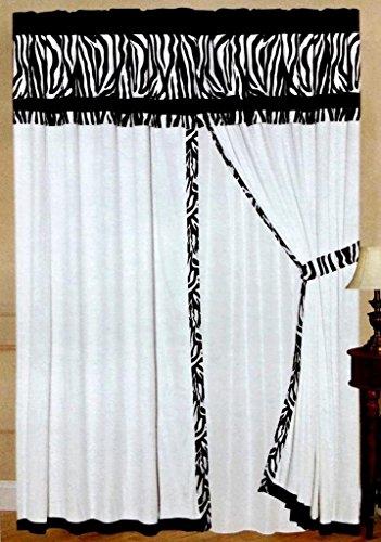 Pink Zebra Comforter front-237959
