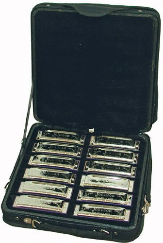 set-de-12-harmonicas-johnson-en-valise-neuf-garantie