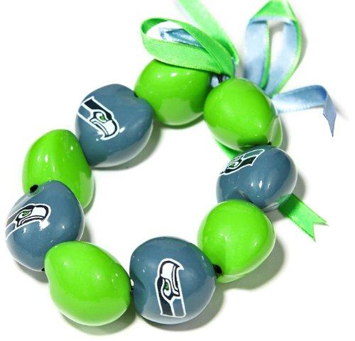 NFL Seattle Seahawks Go Nuts Kukui Nut Bracelet from SteelerMania