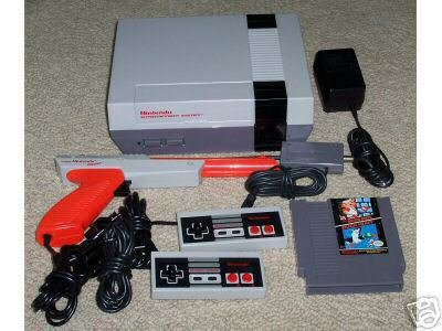 Nintendo NES System - Video Game Console Bundle  (Includes 2 Controllers / Zapper / Super Mario Bros./Duck Hunt)