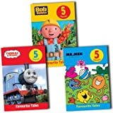 Childrens 15 Stories Childrens Favourite Tales Over 3 Books Collection Pack Set RRP: £23.97 (Bob the Builder, Thomas the Tank Engine and Friends, Mr. Men)
