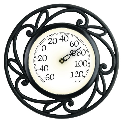 Chaney Instrument 12-Inch Wrought Iron Thermometer
