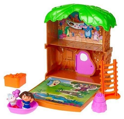 Niños Fisher-Price, Dora el explorador Let  s ir aventura Mini casa del árbol Playset en Veo y Compro