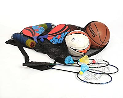 Mesh Ball Bag With Shoulder Strap. 30 x 40 Inches with Drawstring Closure. Made in The U.S.A