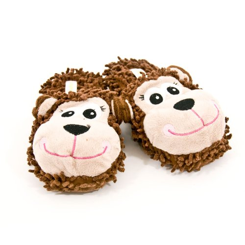 "Cheap Capelli New York ""Funny Monkey"" 3D Parts And Embroidery On Fabric Ladies Indoor Slipper (B005MJYV4K)"
