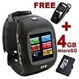51QCX496zcL. SL160  G13 (With Micro 4gb) Black Camera GSM Quad band Watch Phone ~ Unlocked ~