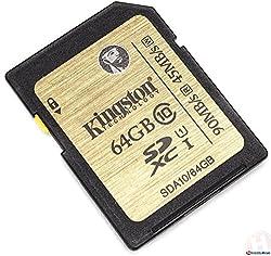 Kingston 64GB Class 10 UHS-I 90R/45W SDXC Card
