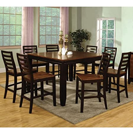 Bannock Acacia & Espresso Finish 7-Piece Counter Height Dining Table Set