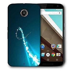 Snoogg Sparkling Curve Design Designer Protective Phone Back Case Cover For Motorola Nexus 6