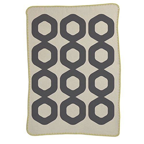 Lolli Living Brushed Cotton Blanket, Mod Ring