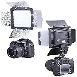 Bestlight W160 LED Photo Studio Barndoor Continuous Lighting Panel Kit Light for Digital Camera