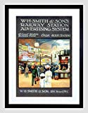 WH SMITH RAILWAY STATION LONDON UK VINTAGE ADVERT FRAMED PRINT B12X629