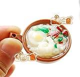 Egg Vegetable Congee Food 1/6 Scale for BJD Blythe Dollhouse Miniature E