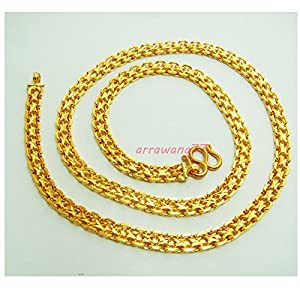 Amazon.com: 22k 23k 24k Thai Baht Yellow Gold Gp Filled Necklace 28