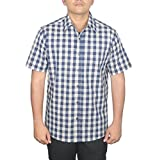 Swadeshi Men's Casual Shirt code620.40_Blue and white_40