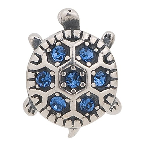Sea Turtle Tortoise Garnet Cz January Birthstone Sterling Silver Charms Bead Fits Pandora Charms (September Birthstone)