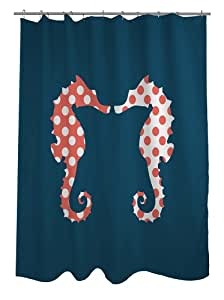 Bentin Home Deco Bff Seahorse Shower Curtain Blue Coral White Home Kitchen