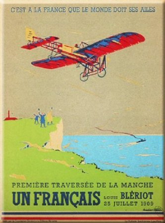 cartexpo-m15703-bleriot-metal-card-15-x-20-cm-french-language