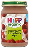 HiPP Organic Stage 2 From 7 Months Strawberry and Raspberry Yogurt 6 x 160 g (Pack of 2, Total 12 Pots)