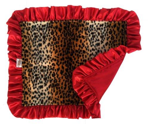 Patricia Ann Designs Satin Ruffled Cheetah Travel Silkie, Tan, Brown, Red front-687043