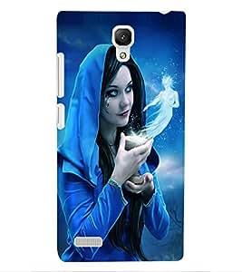 ColourCraft Fantasy Girl Design Back Case Cover for XIAOMI REDMI NOTE