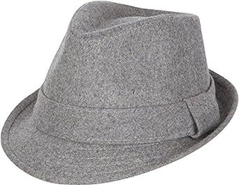 A8121F Sakkas Unisexe Chapeau d'hiver Fedora Laine Structuré (3 Couleurs) - Anthracite/P/M
