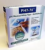 UK Industrial Tapes PH7-70 Klebeband, zur Passepartout-Befestigung oder zum Verschließen von Rahmen, säurefrei, pH-neutral, 2,5cmx66m