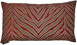 Van Ness Studio Lumbar Pumba Decorative Throw Pillow, Red