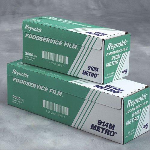 "Reynolds 914M 2000' Length X 18"" Width, Metro Line Pvc Food Wrap Film"