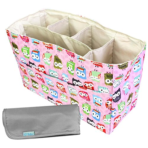 KF Baby Diaper Bag Insert Organizer (12 x 4.8 x 8 inch, Pink) + Diaper Changing Pad Value Combo
