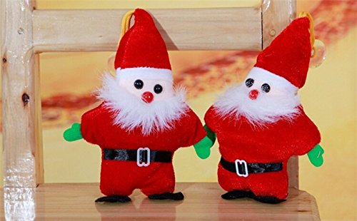 20CM (2 pcs/set) Christmas Ornament Gifts Cute Santa Claus Doll Kids Baby Cartoon plush Toys Indoor new year Decoration Home