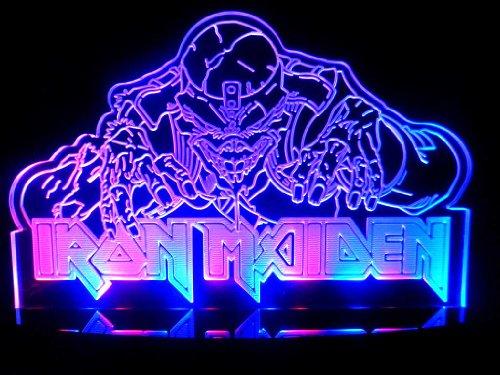 Eddie The Head Iron Maiden Led Desk Lamp Night Light Beer Bar Bedroom Signs