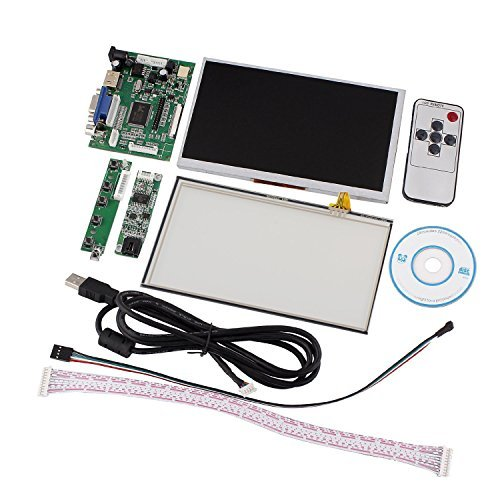 Tontec 7 Inches Raspberry Pi LCD Touch Screen Display TFT Monitor AT070TN90 with Touchscreen Kit HDMI VGA Input Driver Board
