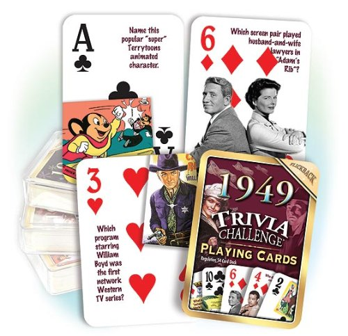 1949 Flickback Trivia Playing Cards: 66th Birthday Gift or 66th Anniversary Gift - 1