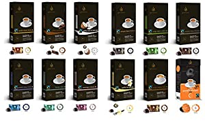 Purchase Gourmesso Mixed Variety Flavour Bundle - 120 Nespresso ® Compatible Coffee Capsules. Fair Trade by Gourmesso
