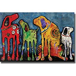 Artistic Home Gallery 2436531S Best Friends By Jenny Foster Premium Stretched Canvas Wall Art