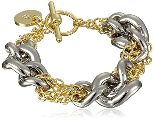1AR by UnoAerre 18k Gold and Silver-Plated Two-Tone Chain Bracelet
