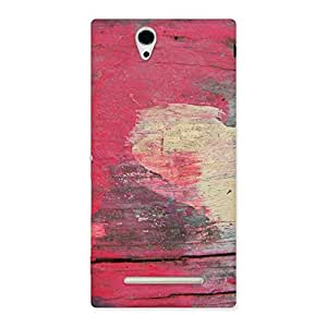 Impressive Vintage Red Yellow Print Back Case Cover for Sony Xperia C3