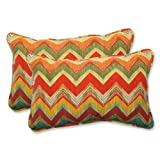 Pillow Perfect Outdoor Tamarama Multi Rectangular Throw Pillow, Set of 2