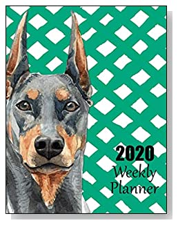 Doberman Pinscher 2020 Dated Weekly Planner - A fun canine-themed planner to help any dog lover stay organized and keep track of activities on a daily, weekly, and monthly basis from January to December 2020.