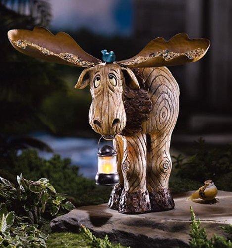 Moose lawn ornament woodwork austin Christmas moose home decor
