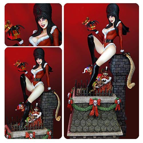 [Elvira Scary Christmas Deluxe Maquette Statue] (Elvira Outfit)
