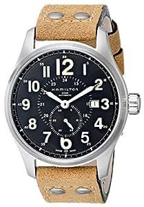 Hamilton Men's H70655733 Khaki Officer GMT Watch