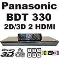 NEW PANASONIC 2D/3D CODEFREE BDT330 2K/4K, Wi-Fi, Dual HDMI, Blu-Ray Disc Player MultiZone Region Code Free DVD 012345678 PAL/NTSC Blu Ray Zone A/B/C. 100~240V 50/60Hz comes with EU & UK Mains plugs (2m Gold Plated 1.4 HDMi Lead)