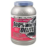 SciTec Nutrition 100% Whey Delite Dietary Supplement, Ultrafiltered Whey Protein Concentrate, Raspberry Yogurt, 32 Ounces ~ Scitec Nutrition